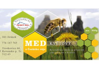 nálepka pro med